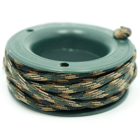 ROTHCO 550 PARACORD MINI SPOOL - ROTHCO WOODLAND CAMO - Hock Gift Shop | Army Online Store in Singapore