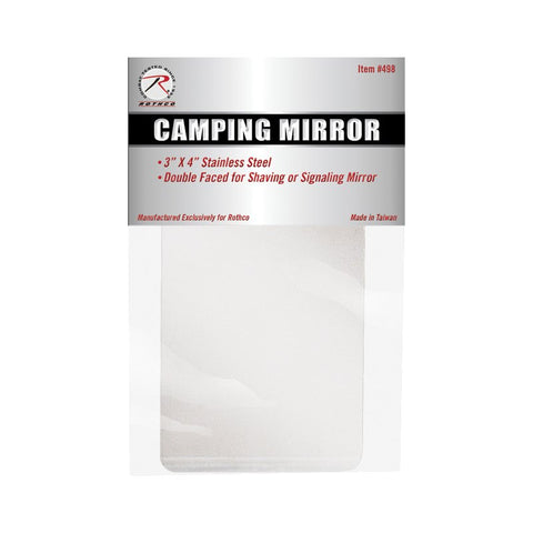 "ROTHCO CAMPER'S SURVIVOR MIRROR 3"" X 4"" - Hock Gift Shop 