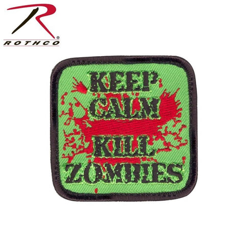 ROTHCO KEEP CALM KILL ZOMBIES PATCH - Hock Gift Shop | Army Online Store in Singapore