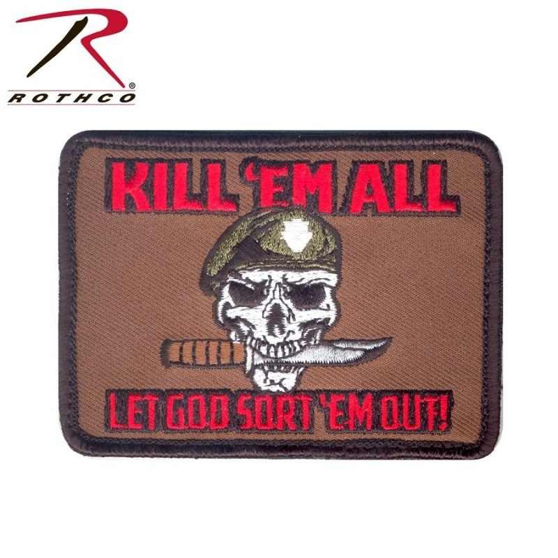 ROTHCO KILL 'EM ALL PATCH - Hock Gift Shop | Army Online Store in Singapore