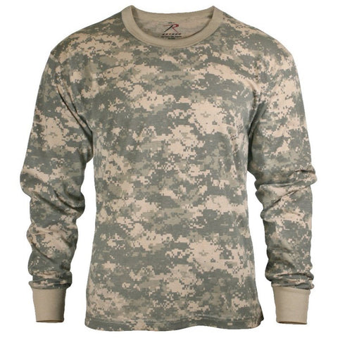 ROTHCO LONG SLEEVE CAMO T-SHIRT - ACU DIGITAL CAMO - Hock Gift Shop | Army Online Store in Singapore