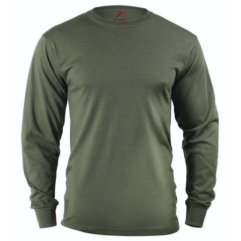 ROTHCO LONG SLEEVE CAMO T-SHIRT - OD - Hock Gift Shop | Army Online Store in Singapore