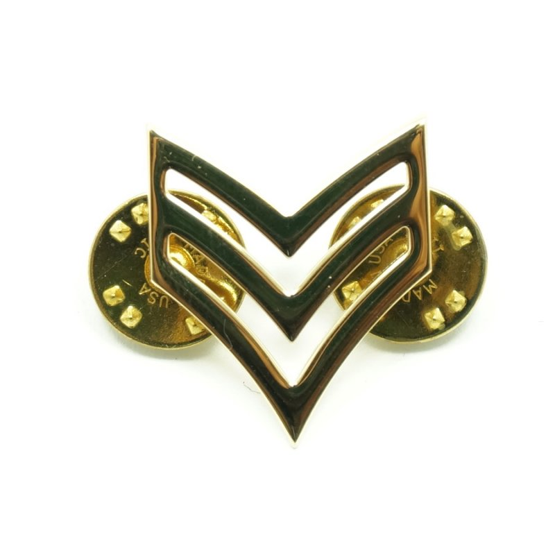 ROTHCO SERGEANT METAL PIN - GOLD - Hock Gift Shop | Army Online Store in Singapore