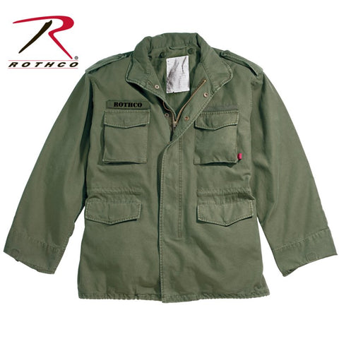 ROTHCO VINTAGE 100% COTTON M-65 FIELD JACKETS - OD - Hock Gift Shop | Army Online Store in Singapore