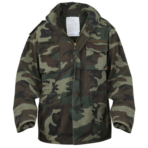 ROTHCO VINTAGE 100% COTTON M-65 FIELD JACKETS - WOODLAND CAMO - Hock Gift Shop | Army Online Store in Singapore
