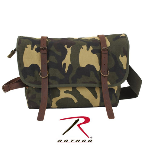 ROTHCO VINTAGE CANVAS EXPLORER SHOULDER BAG - WOODLAND - Hock Gift Shop | Army Online Store in Singapore