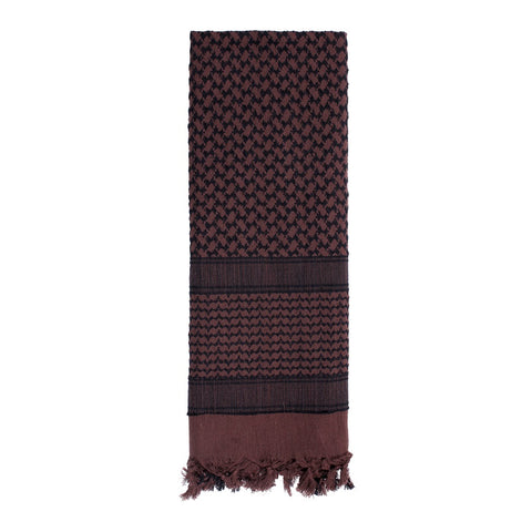 ROTHCO SHEMAGH TACTICAL DESERT SCARF - BROWN