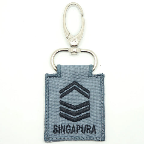 RSN / RSAF MINI RANK KEYCHAIN - 1SG (GRAY)