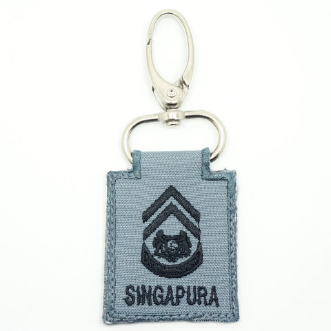 RSN / RSAF MINI RANK KEYCHAIN - 1WO (GRAY)