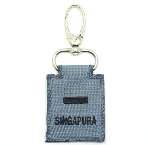 RSN / RSAF MINI RANK KEYCHAIN - 2LT (GRAY)