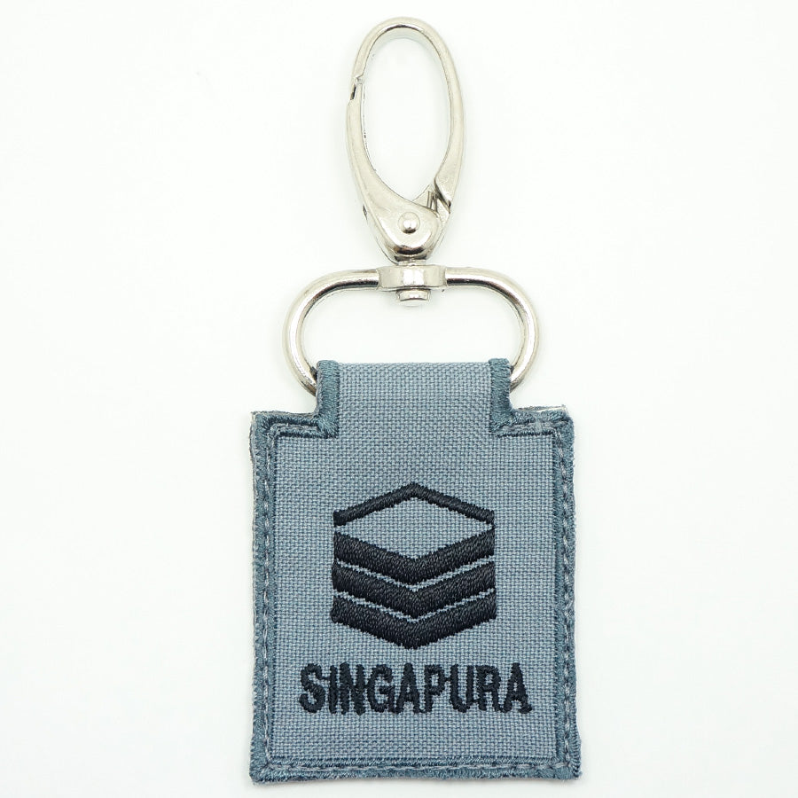 RSN / RSAF MINI RANK KEYCHAIN - 2SG (GRAY)