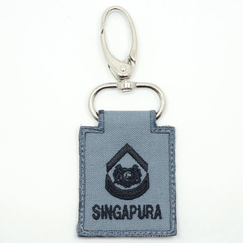 RSN / RSAF MINI RANK KEYCHAIN - 2WO (GRAY)