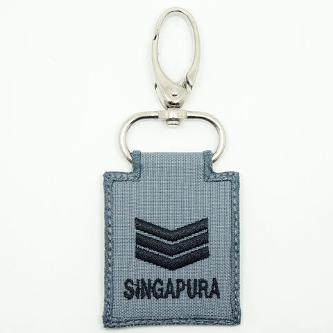 RSN / RSAF MINI RANK KEYCHAIN - 3SG (GRAY)