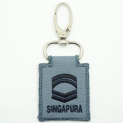RSN / RSAF MINI RANK KEYCHAIN - CFC (GRAY)