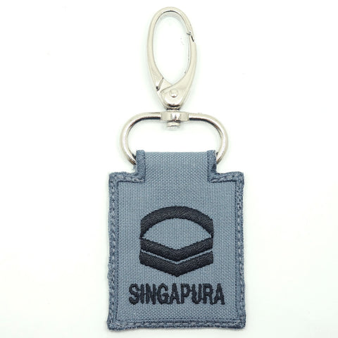 RSN / RSAF MINI RANK KEYCHAIN - CPL (GRAY)