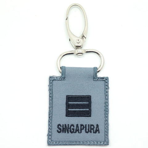 RSN / RSAF MINI RANK KEYCHAIN - CPT (GRAY)