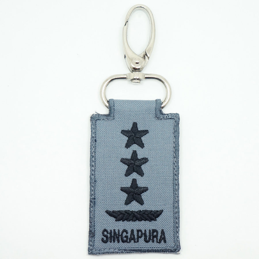 RSN / RSAF MINI RANK KEYCHAIN - LG (GRAY)