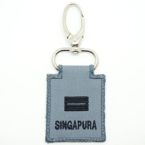 RSN / RSAF MINI RANK KEYCHAIN - LTA (GRAY)