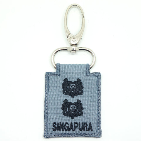 RSN / RSAF MINI RANK KEYCHAIN - LTC (GRAY)