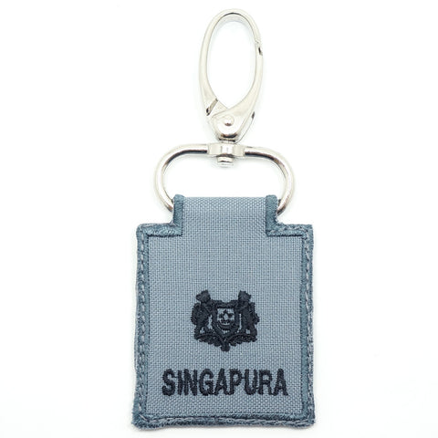 RSN / RSAF MINI RANK KEYCHAIN - MAJ (GRAY)