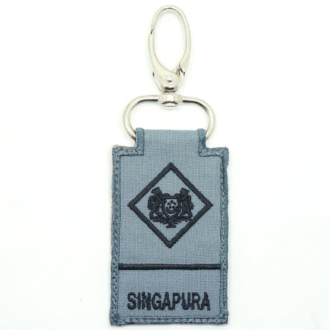 RSN / RSAF MINI RANK KEYCHAIN - ME1 (GRAY)