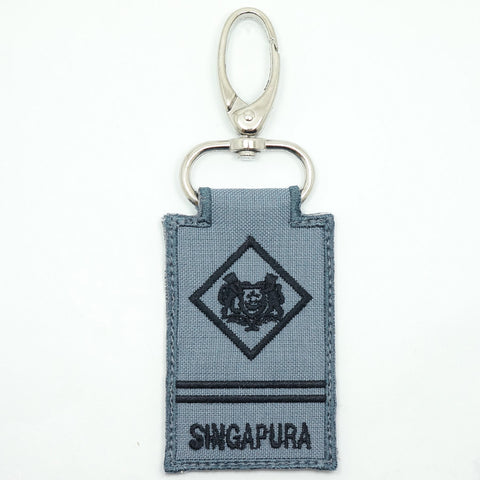 RSN / RSAF MINI RANK KEYCHAIN - ME2 (GRAY)