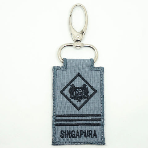 RSN / RSAF MINI RANK KEYCHAIN - ME3 (GRAY)