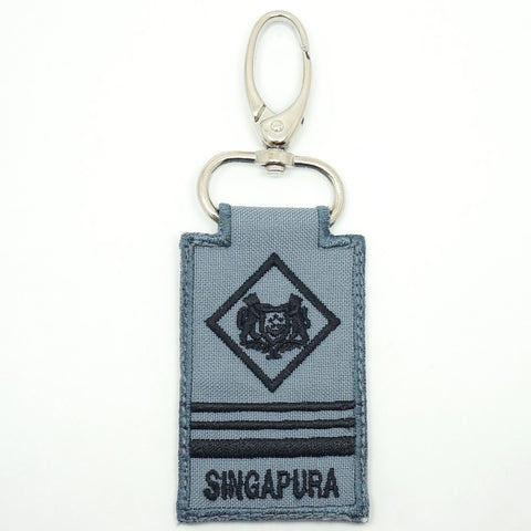 RSN / RSAF MINI RANK KEYCHAIN - ME5 (GRAY)
