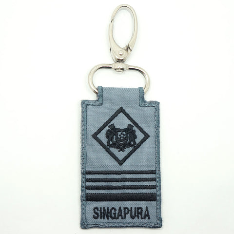 RSN / RSAF MINI RANK KEYCHAIN - ME6 (GRAY)