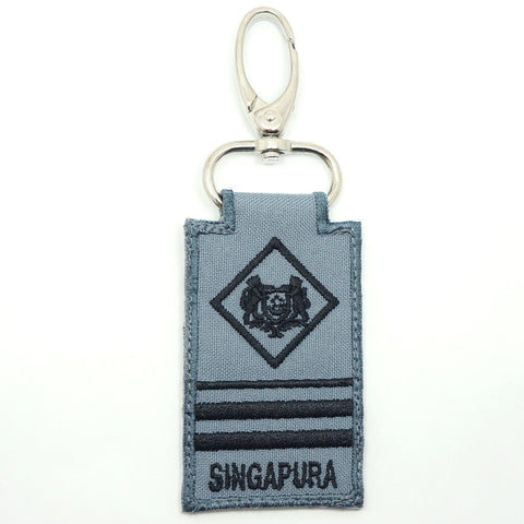 RSN / RSAF MINI RANK KEYCHAIN - ME7 (GRAY)