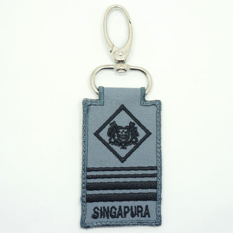 RSN / RSAF MINI RANK KEYCHAIN - ME8 (GRAY)