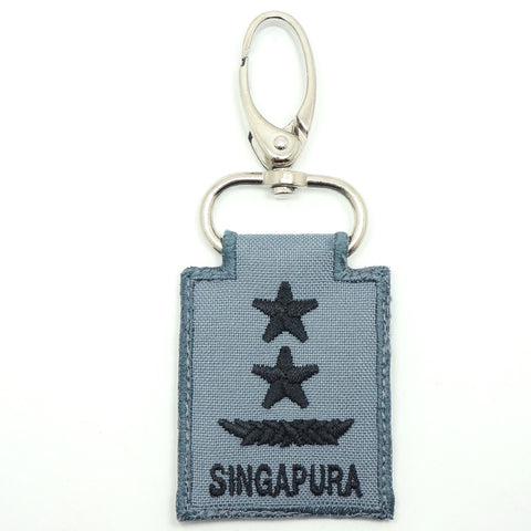 RSN / RSAF MINI RANK KEYCHAIN - MG (GRAY)