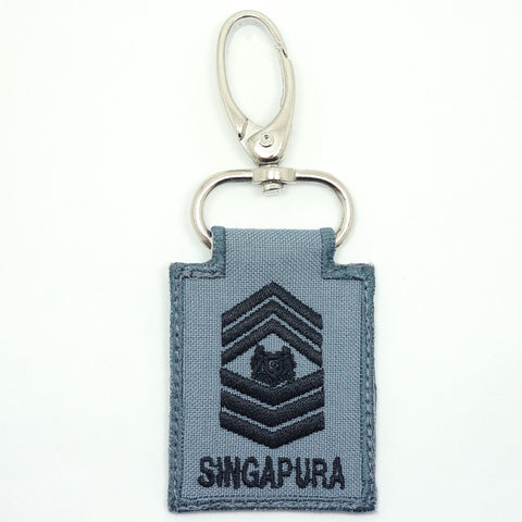 RSN / RSAF MINI RANK KEYCHAIN - MSG (GRAY)