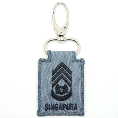 RSN / RSAF MINI RANK KEYCHAIN - MWO (GRAY)