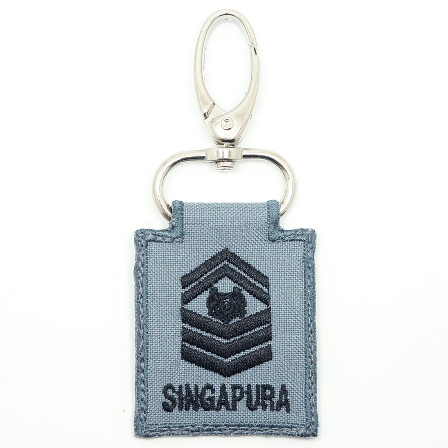 RSN / RSAF MINI RANK KEYCHAIN - SSG (GRAY)