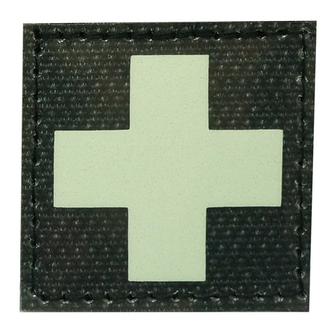MEDICAL CROSS PATCH - GLOW IN THE DARK
