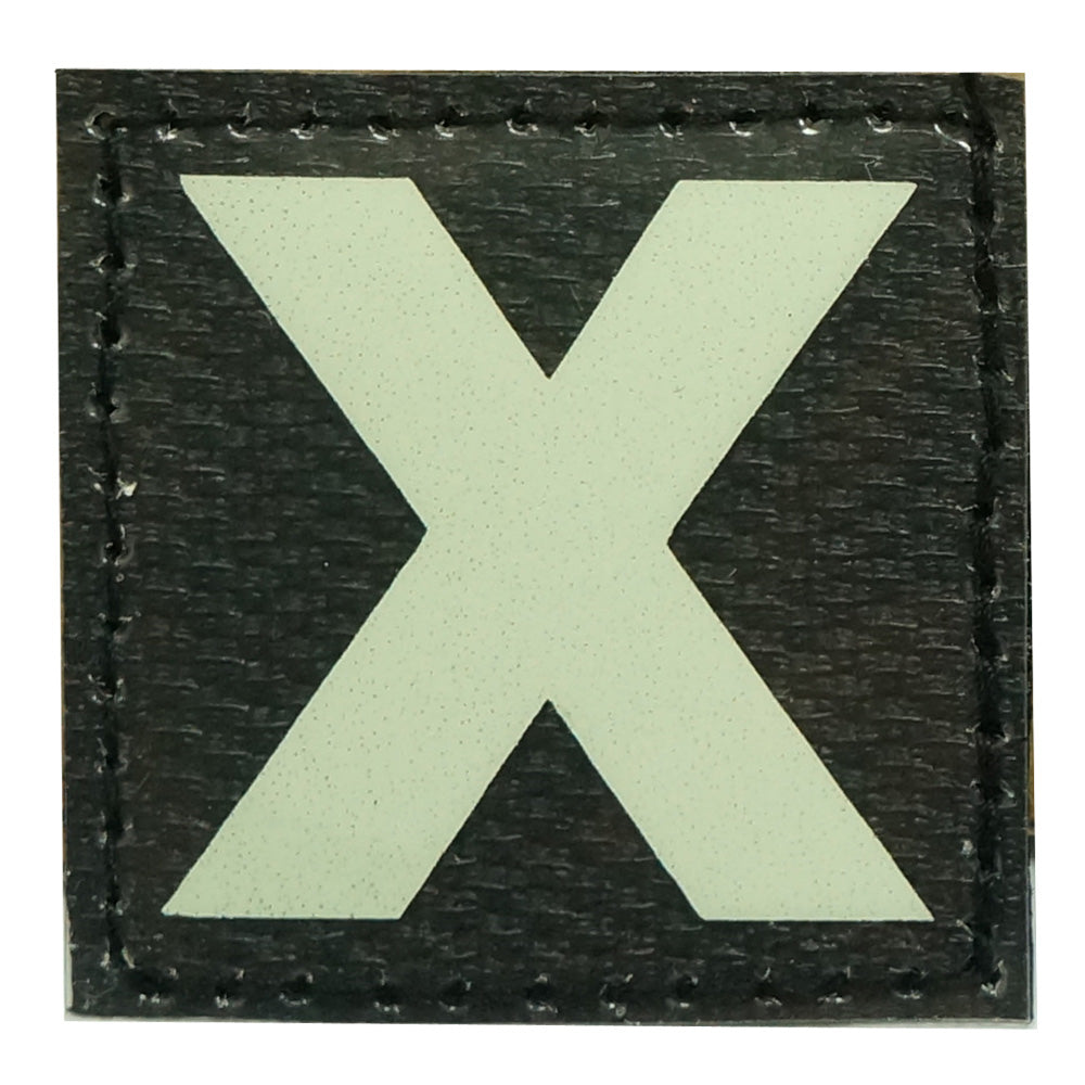 X PATCH - GLOW IN THE DARK
