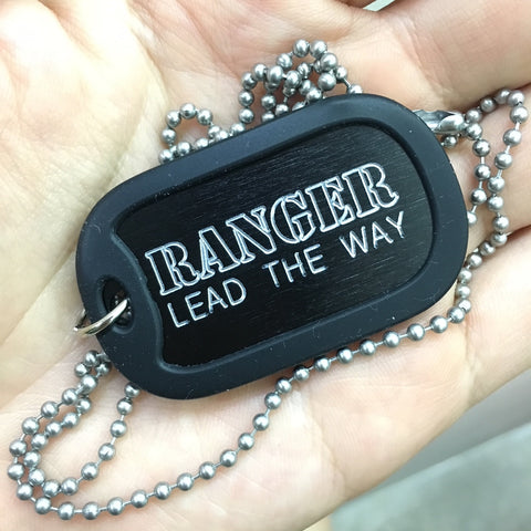 RANGER LEAD THE WAY DOG TAG - BLACK