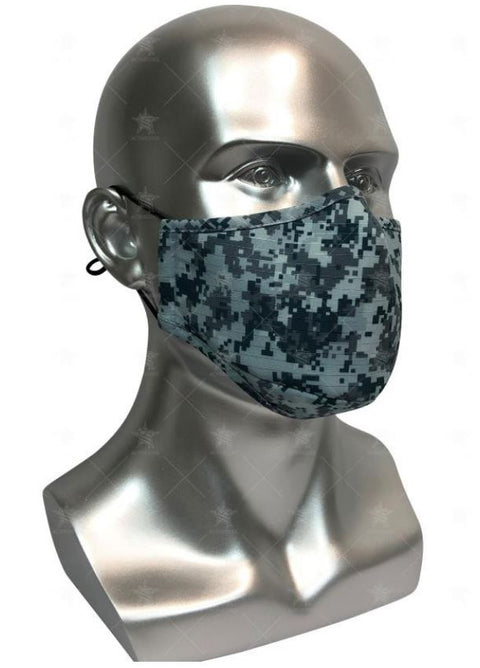 REUSABLE MASK WITH FILTER POCKET - AIR FORCE DESIGN