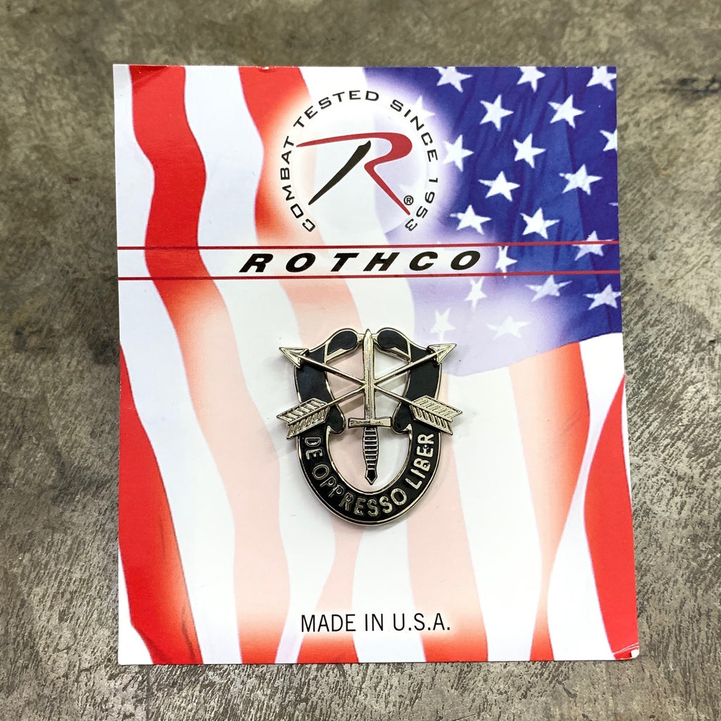 ROTHCO GREEN BERET ARMY OF THE UNITED STATES SPECIAL FORCES PIN