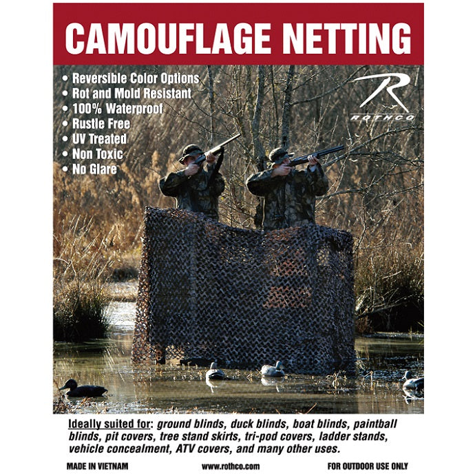ROTHCO MILITARY TYPE CAMO NET - LARGE