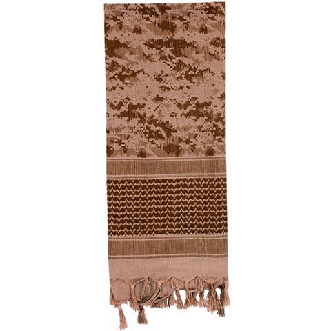 ROTHCO CAMO SHEMAGH TACTICAL DESERT SCARF - DESERT DIGITAL
