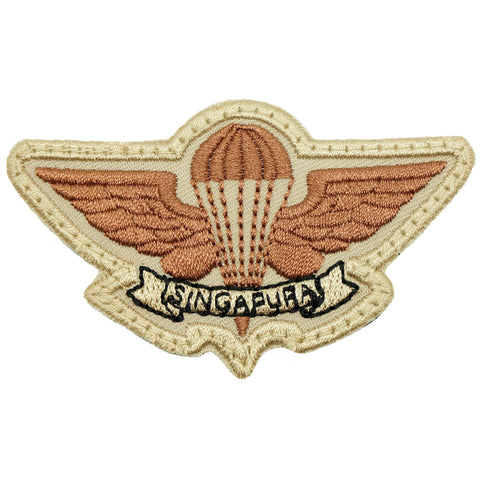 SAF AIRBORNE WING - KHAKI BLACK WORDING