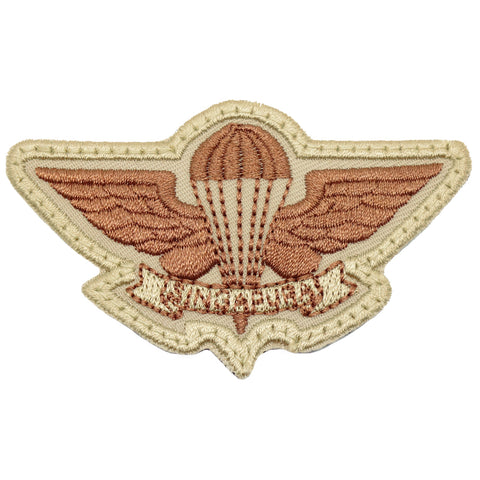 SAF AIRBORNE WING - KHAKI BROWN WORDING
