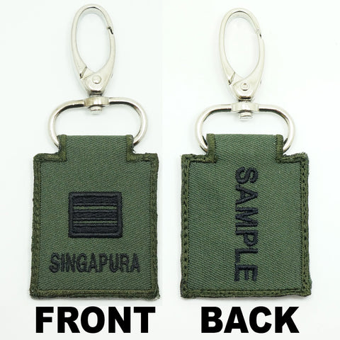 MINI SAF RANK KEYCHAIN - WITH NAME EMBROIDERY