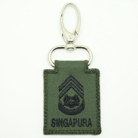 MINI SAF RANK KEYCHAIN - 1WO (OD GREEN)