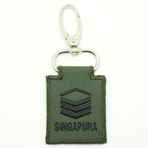 MINI SAF RANK KEYCHAIN - 2SG (OD GREEN)