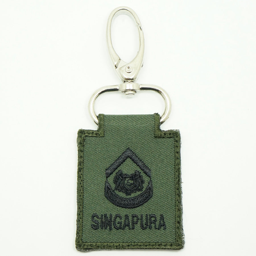 MINI SAF RANK KEYCHAIN - 2WO (OD GREEN)
