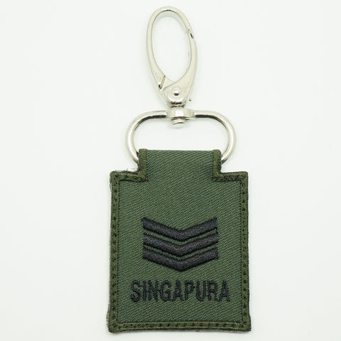 MINI SAF RANK KEYCHAIN - 3SG (OD GREEN)