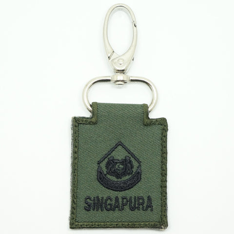 MINI SAF RANK KEYCHAIN - 3WO (OD GREEN)